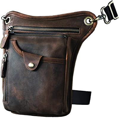 Le'aokuu Men's Motorcycle Leg Bag leather