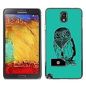 TECHCASE**Cubierta de la caja de protección la piel dura para el ** Samsung Galaxy Note 3 N9000 N9002 N9005 ** Cool Party DJ Owl