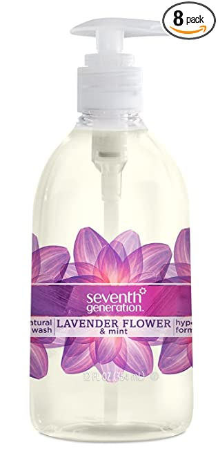 Seventh Generation Hand Wash Soap, Lavender Flower & Mint, 12 Fl Oz, (Pack of 8)