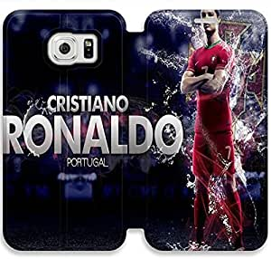 Elegant Printing Cool Cristiano Ronaldo Images Wallpapers-18 iPhone Samsung Galaxy S6 Leather Flip Case