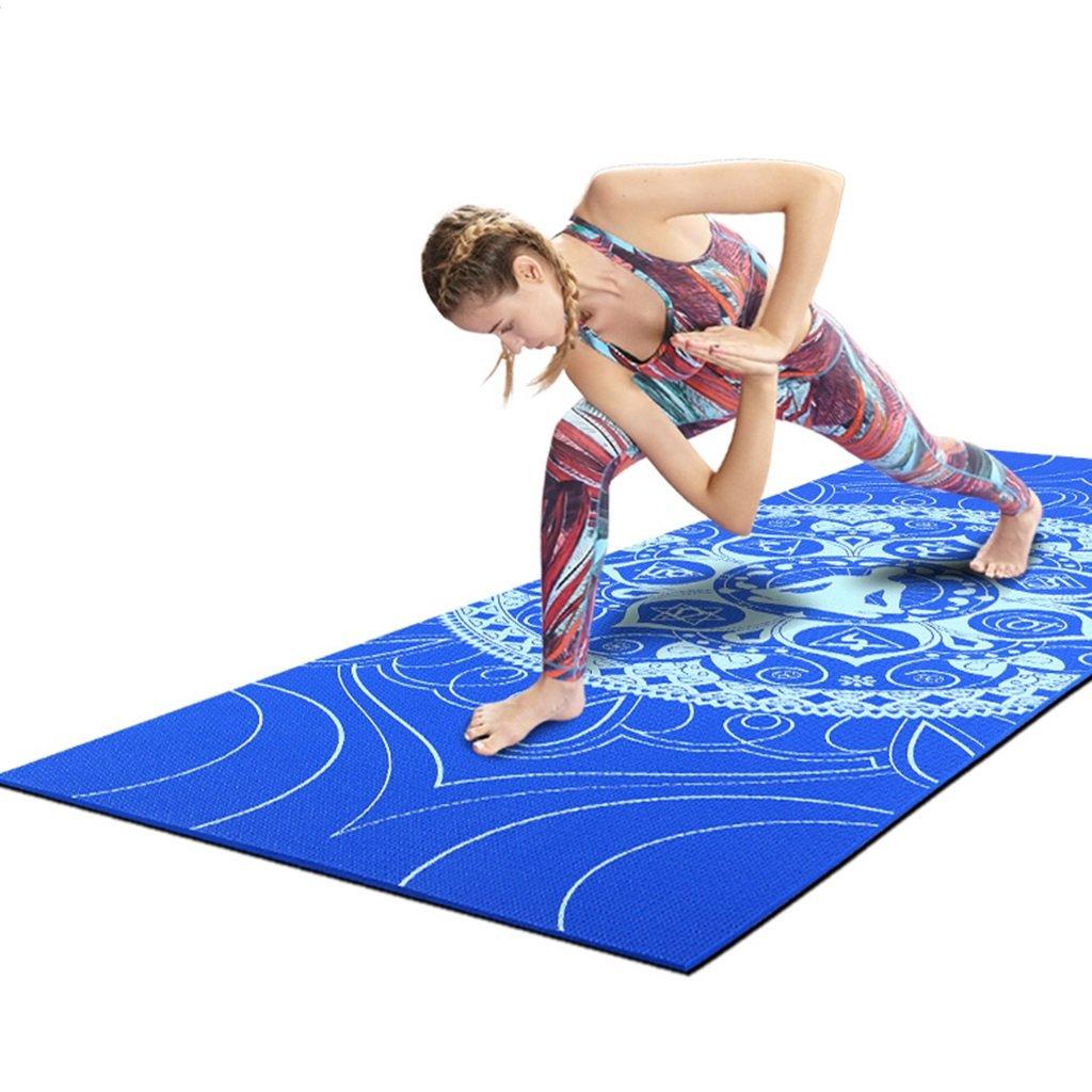 Amazon.com : Yoga Mats Printing Beginner fitness mat 0.8cm ...