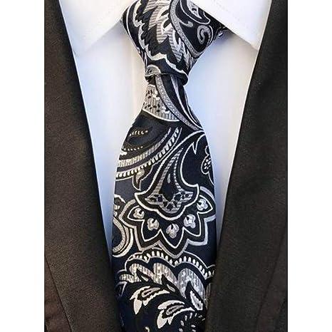 imágenes oficiales bebé minorista online WOXHY Corbata Nuevo diseño 8 cm Floral marrón Corbatas ...