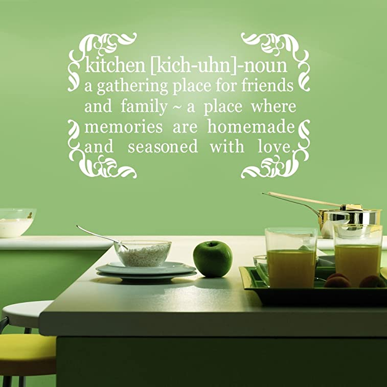 A Gathering Place For Friends And Family - Home Kichen Decal Wall Quote Sticker Vinyl Art (Custom, X-large)