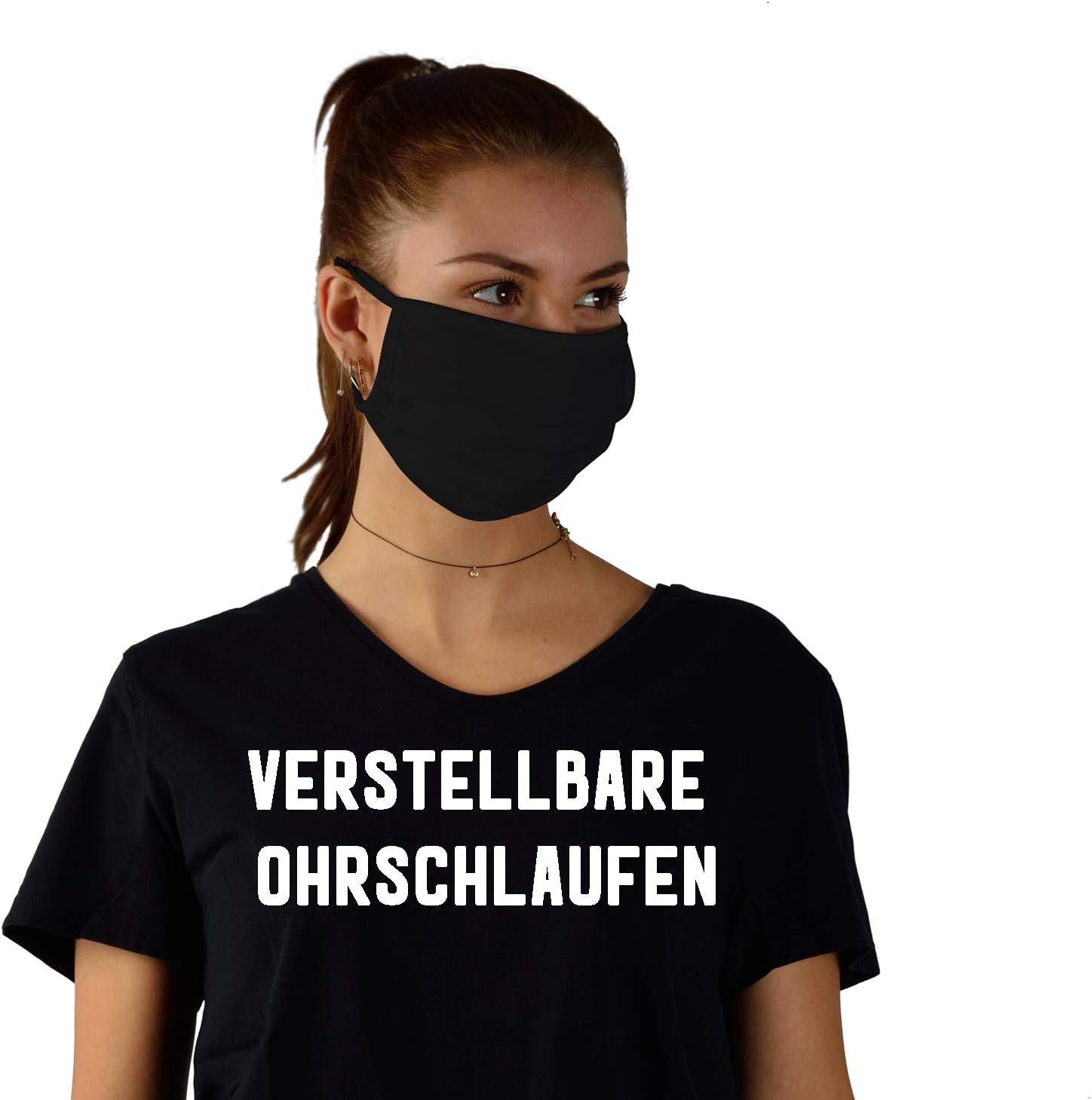 Mounosguards Mund Und Nasenschutz 100 Bio Baumwolle Schwarz 3er Set Waschbar Oeko Tex 100 Drogerie Körperpflege