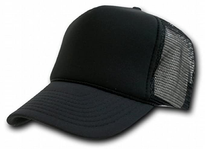 738c140c06 Image Unavailable. Image not available for. Color  Decky Black Mesh Trucker  Style Cap ...