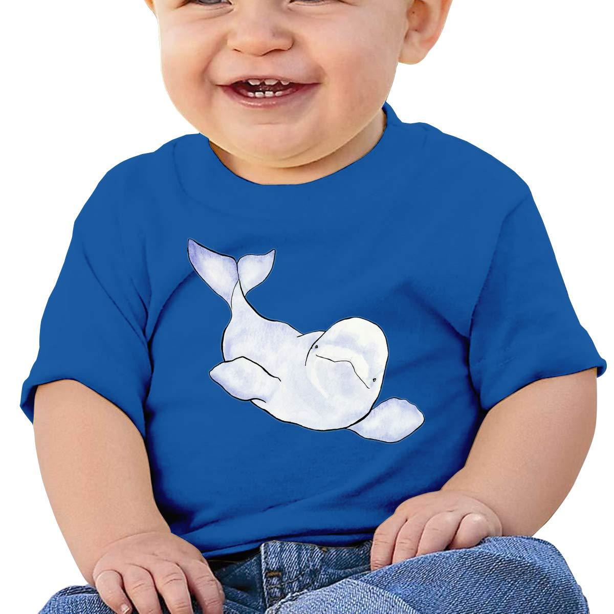 XHX403 Beluga Wave Infant Kids T Shirt Cotton Tee Toddler Baby 6-18M