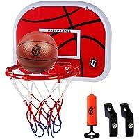 Dreamon Canasta Baloncesto Infantil Habitacion con Aros Balón y Bomba, Mini Juguetes Deportivos para Interiores y…