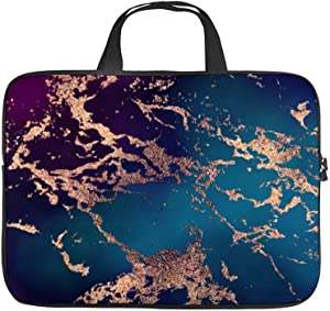 17 Inch Laptop Sleeve Moody Marble Deep Luxe Purple Teal Rose Case/Water-Resistant Notebook Computer Pocket Tablet Briefcase Carrying Bag/Pouch Skin Cover for Acer/Asus/Dell/Lenovo