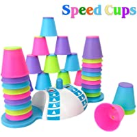 Quick Stacking Cups Games for Kids - Color Recognition Speed Cups for Toddlers – Baby Interactive Speed Training Nesting Cup Game with 32 Cups