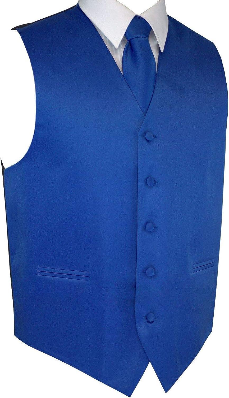 Details about  /Brand Q 3pc Men/'s Dress Vest Necktie Pocket Square Set For Suit or Tuxedo