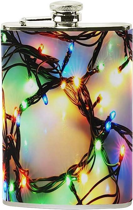 Petaca de Navidad con luces LED de colores para mujer, de ...