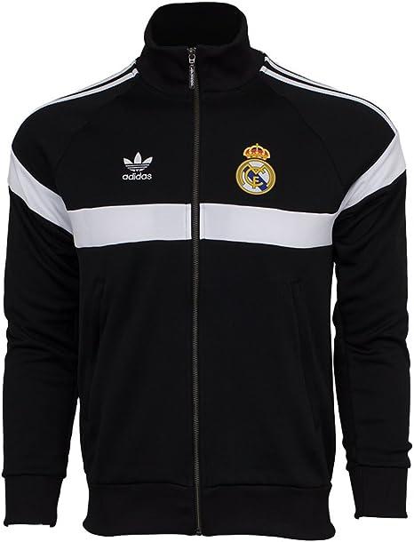 Adidas Real Madrid FC Chaqueta De Chándal (Negro) (Tamaño De Los ...