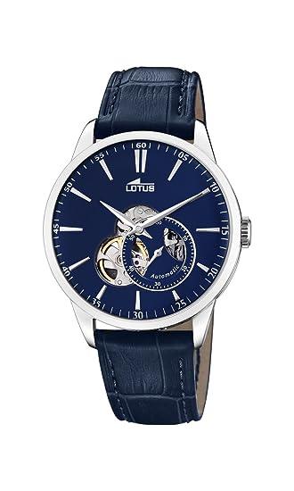 Lotus Watches Reloj Análogo clásico para Hombre de Automático con Correa en Cuero 18536/3: Amazon.es: Relojes
