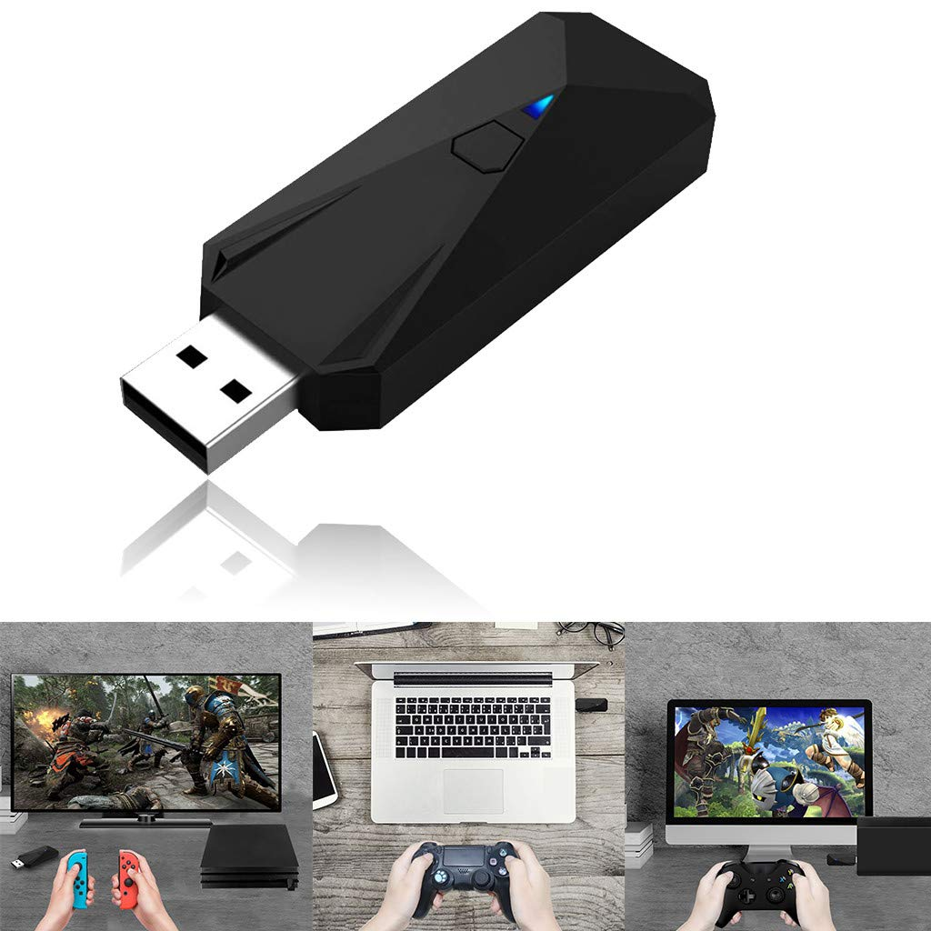 FunDicsount Wireless Controller Adapter Compatible with Nintendo Switch Lite/PS3/PS4/XBOX Controllers or PC Converter Connector (Black) by FunDiscount Shop_Cell Phones & Accessories
