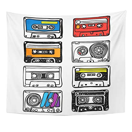 Amazon com: Semtomn Tapestry Wall Hanging Tape Cassette