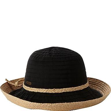 b503f47c Sun N' Sand Akira Ribbon with Raffia Trim Hat, Black at Amazon Women's  Clothing store: Shoe Accessories