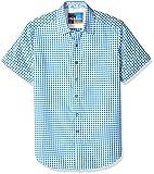 Robert Graham Men's Morales Short Sleeve Shirt, Blue, Medium