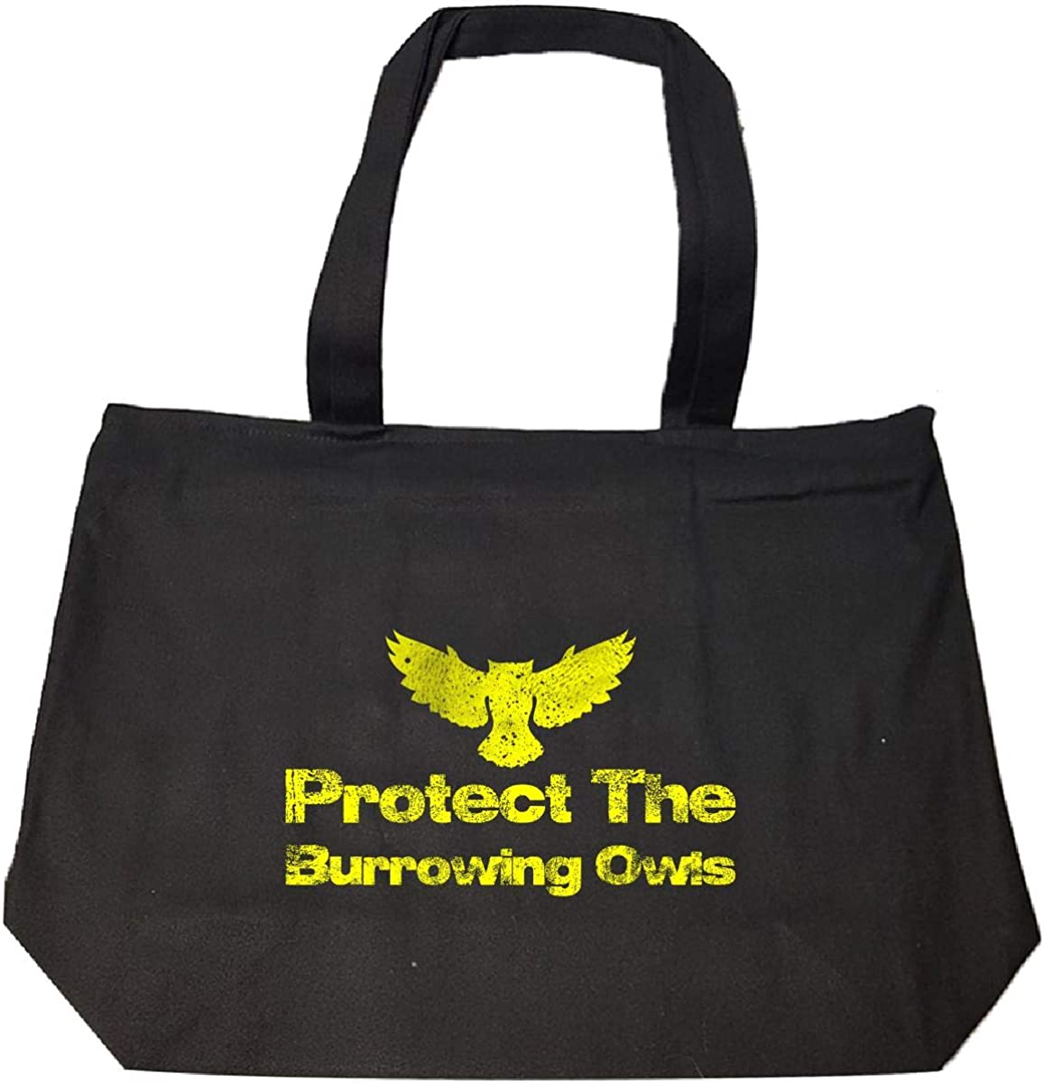 Tote Bag With Zip Protect The Burrowing Owls111