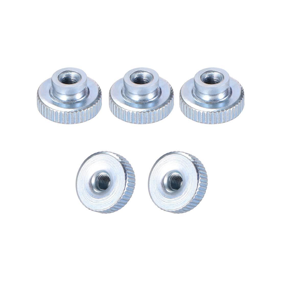 Sourcingmap paquete de 20 Tuercas para pulgar chapado en n/íquel perillas redondas M4 con collar