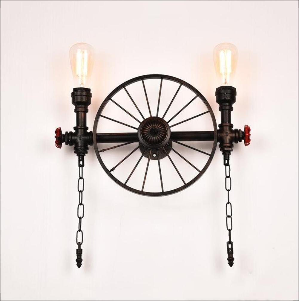 DENG OOFAY Light® Wandlampen Wasserrohr Rad LED Beleuchtung Lampenschirm Metall E27 Edison Befestigung Industriell Modern Innen Nachttisch Dekoration