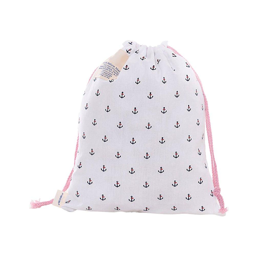 Ya Jin Set of 4, Dustproof Drawstring Shoes Bag Portable Travel Toiletry Pouches Cosmetics Wash Bags