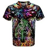 Legend of Zelda Triforce Trippy Psychedelic Hippie Design Full 3D Print T-Shirt Size S-3XL