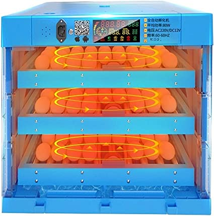 ZFF Automatic Egg Incubators for Hatching Eggs Heating Turning 192 Eggs Digital for Poultry Chicken Duck Dove Temperature Humidity Control