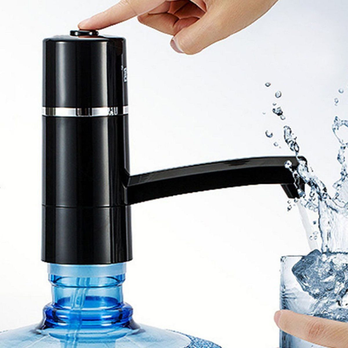 Drinking Water Pump Auto Portable Wireless Electric Pump Dispenser Drinking Switch 12V and 15W Water Bottle (Black)
