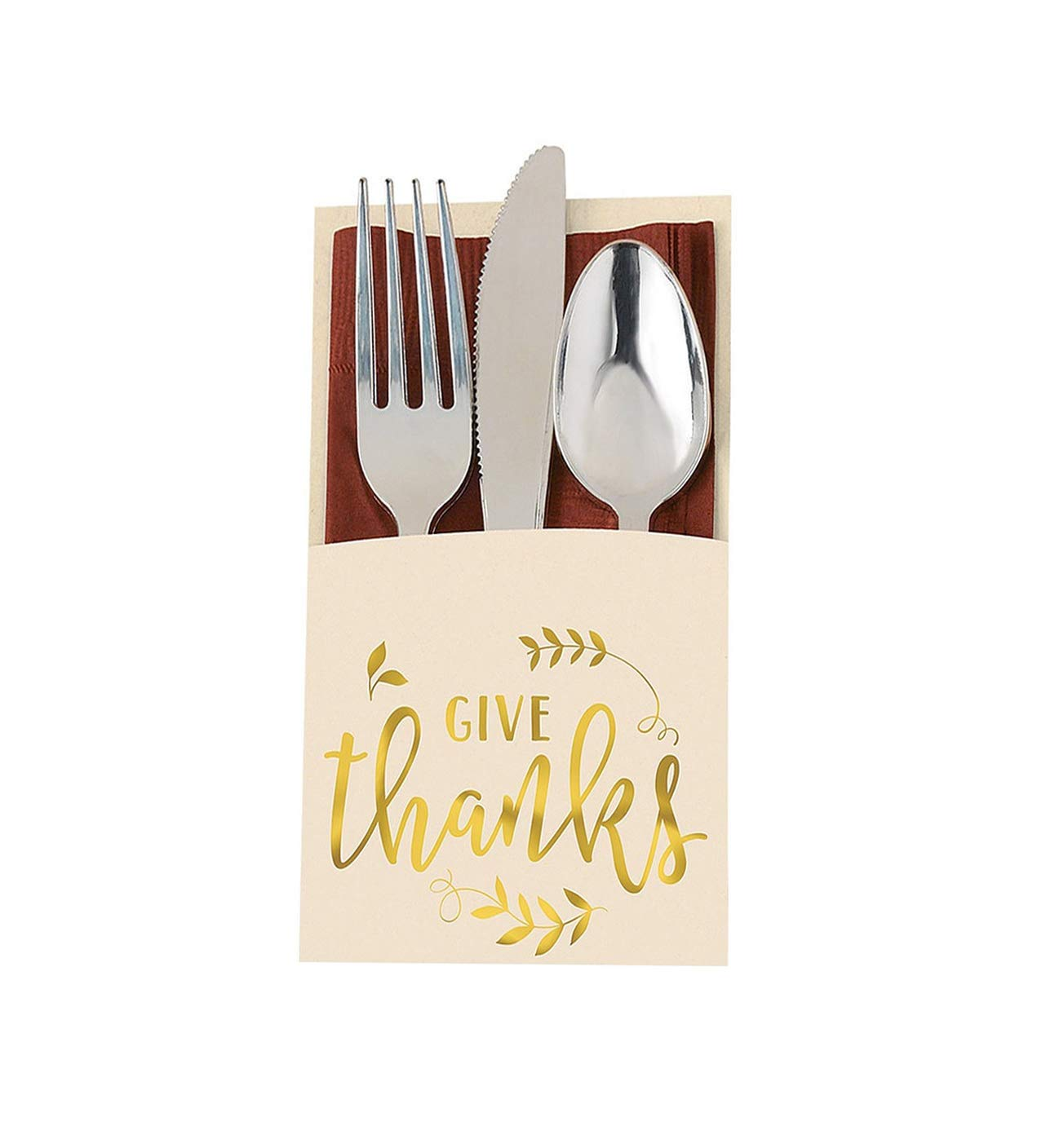 Give Thanks Cutlery Holders, 2 Packs, 24 Count Total