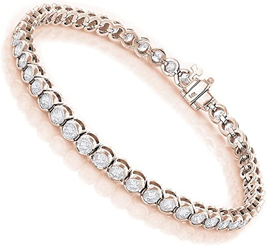 TENNIS BRACELET 6.00 CTW ROUND CUT DIAMOND 14K YELLOW GOLD FINISH Gift