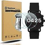 Suoman 3-Pack for Skagen Falster 3 Gen 5 Screen Protector, 2.5D 9H Hardness Tempered Glass for Skagen Gen 5 Falster 3…