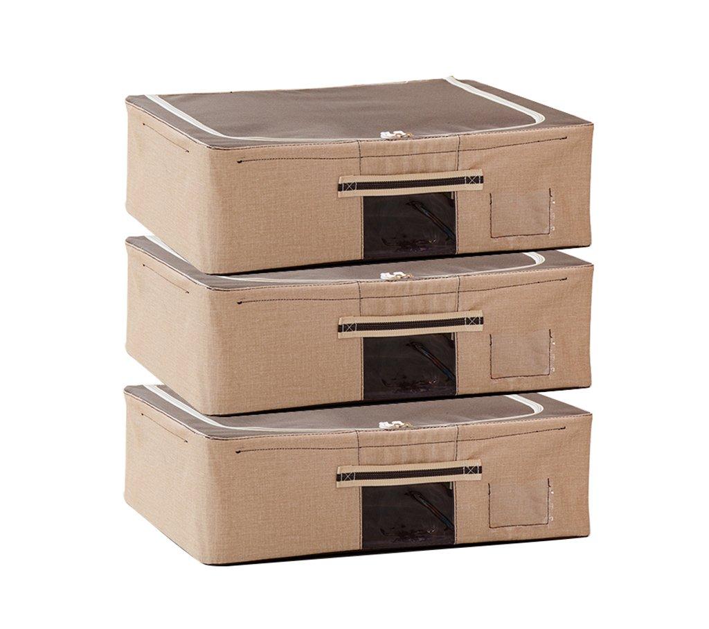 ベッド底収納ボックス、フラット30リットルオックスフォード布組み合わせ収納ボックス可視化服収納袋、50 * 40 * 15センチ (色 : E) B07MQSKXQB E