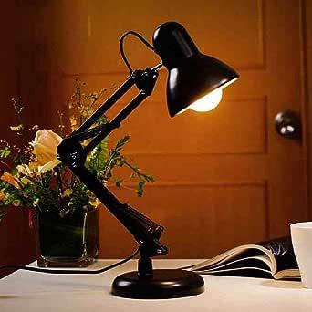 lámparas de escritorio clásicas ajustables E27 LED con interruptor Lámpara de mesa para oficina Lectura nocturna Luz de cabecera hogar: Amazon.es: Iluminación