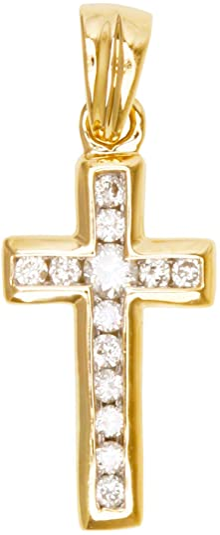 MyGold Diamant Kreuz (Ohne Kette) Gelbgold 585 Gold (14