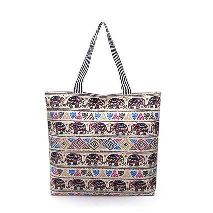 1d0f62e636380 Amazon.com  Women Handbag Tote Canvas Shoulder Bag A Yellow 45 x 8 x ...