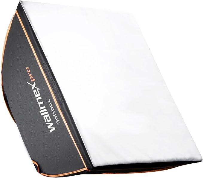 Walimex Pro Softbox Orange Line 40x40 Cm Für Broncolor Kamera