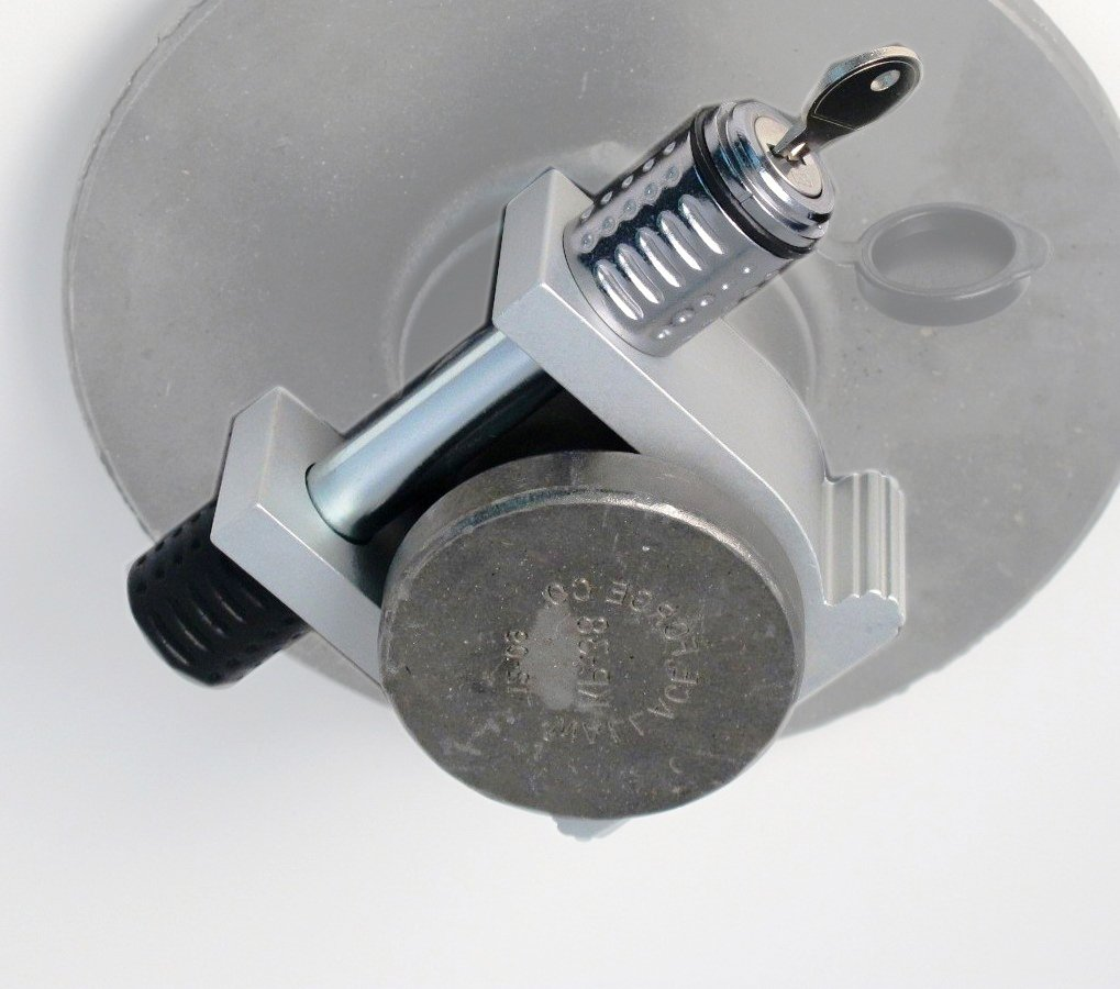 HitchMate 6031 King Pin Lock (Silver) Heininger