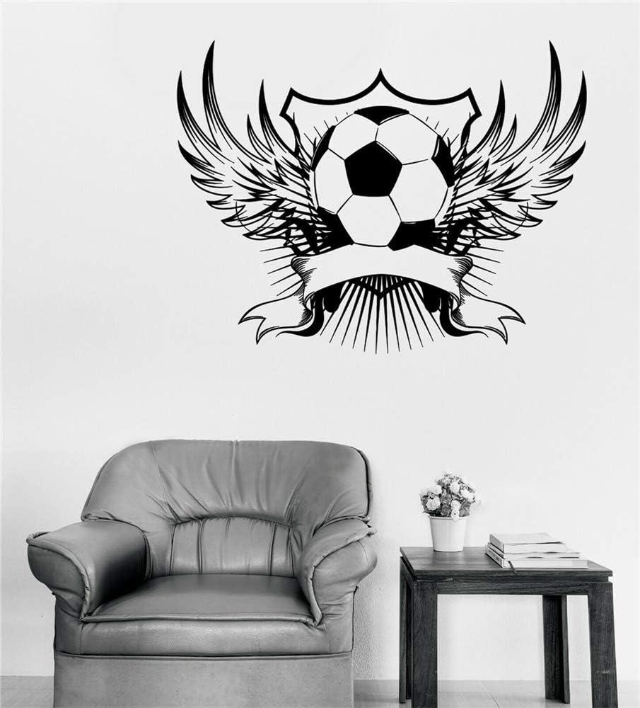 pegatina de pared pegatina de pared 3d Emblema de balón de fútbol ...