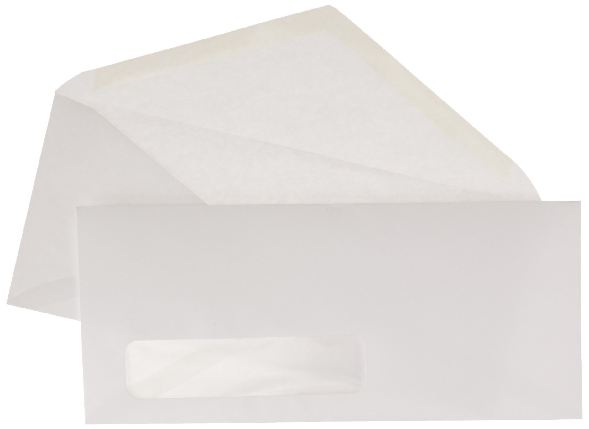AmazonBasics #10 Envelope, Gummed Seal, Left Window, White, 500-Pack