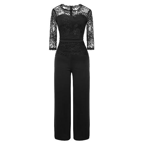 Black Evening Jumpsuit Amazon Co Uk