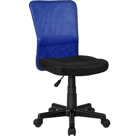 TecTake Silla de Oficina giratoria (Negro-Azul | no. 401794)