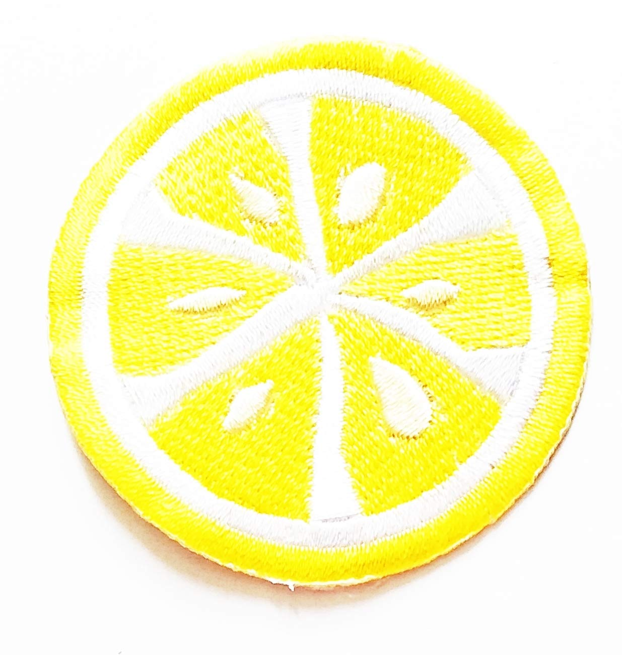 Nipitshop Patches Cute Chic Chic Yellow Sour Lemon Fruit Cartoon Kids Embroidered Iron On Patch for Clothes Backpacks T-Shirt Jeans Skirt Vests Scarf Hat Bag