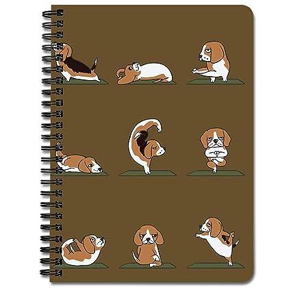 Beagle Yoga - Cuaderno en espiral: Amazon.es: Oficina y ...