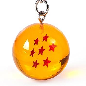 Llavero Netronic, acrílico, 2,7 cm, diseño de estrellas de Dragon Ball Z, 7 stars