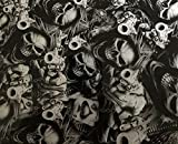 Gangsta Skulls - 1 Square Meter - Hydrographic Film - Water Transfer Printing - Hydro Dipping - Hydrographics Film - Hydro Dip Film