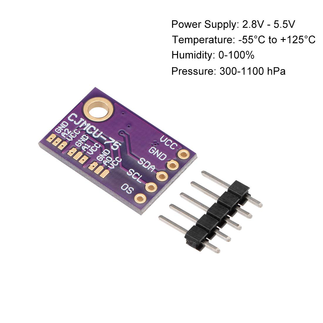 uxcell LM75A Pressure Temperature Sensor Module Digital Breakout Humidity Sensor with IIC I2c for Arduino 2 Pack