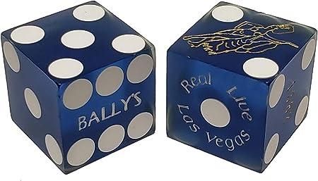 Bally/'s . Las vegas Casino Dice Blue 5 Dice 1-Matching Number Stick