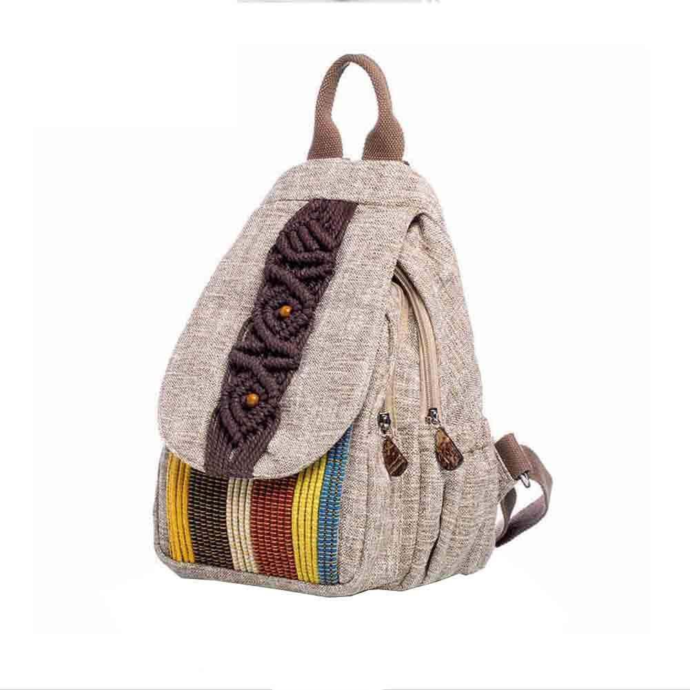 b6dbefcaea Sunny Travel Bag di Stile Etnico Donne Zaino Casuale della Tela di Canapa  Letterario Retro (Colore : 1801): Amazon.it: Giardino e giardinaggio