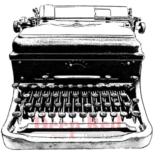 Deep Red Stamps Classic Typewriter Rubber Stamp