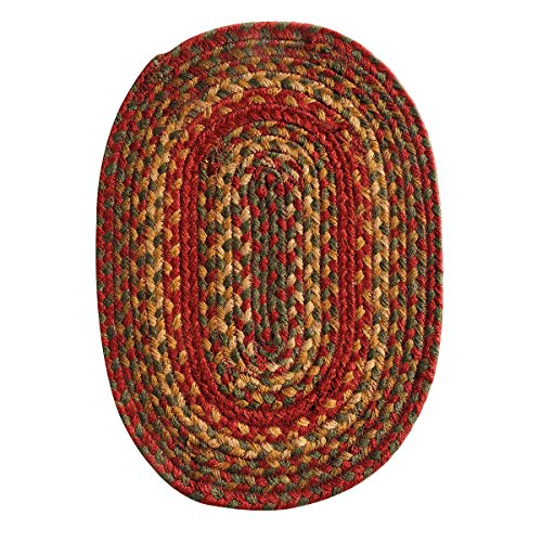 Homespice Oval Tablemat Jute Braided Rugs, 10-Inch by 15-Inch, Cider Barn